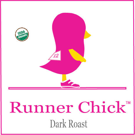 Our Newest Chick Coffee Blend . . .  the Runner Chick