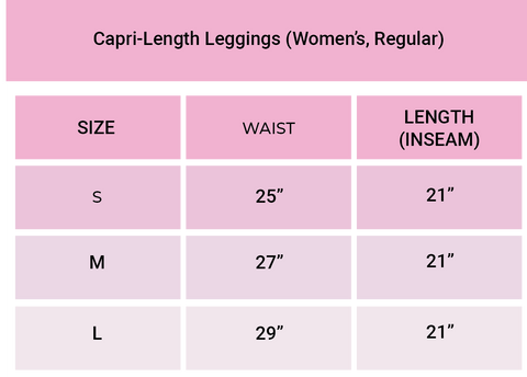 the chicks company sizing chart