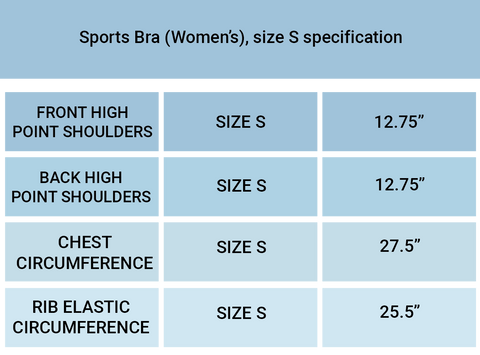 yoga chicks sizing chart