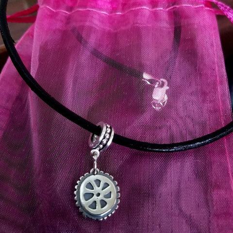 Classic Cycling Mini Wheel Necklace