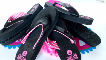 Cycling Chicks Yoga Mat Flip Flop
