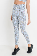 Blue Poppy Highwaist Full Leggings