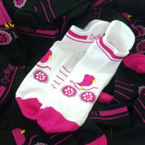Cycling Chicks Shortie Socks with Sole Tab Combo - 2 for $20