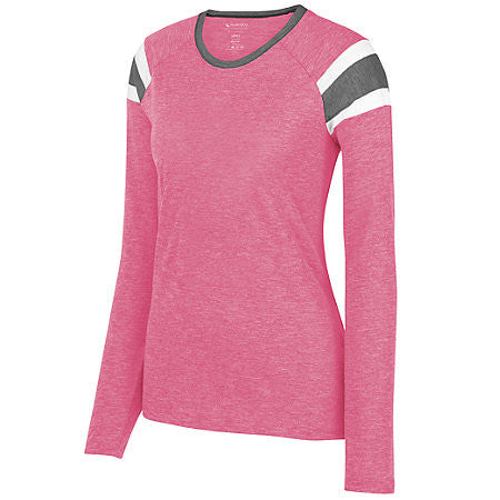 Cycling Chicks Athletic Raglan Long Sleeve Tee