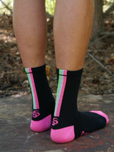Triple Stripe Cycling Sock
