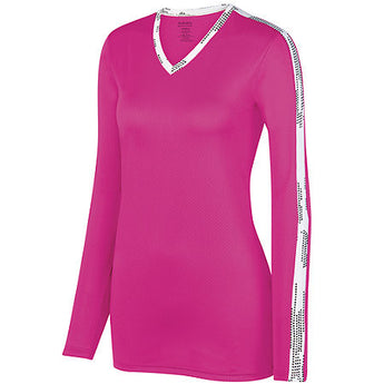 Cycling Chicks Power Pink Wicking Long Sleeve Tee