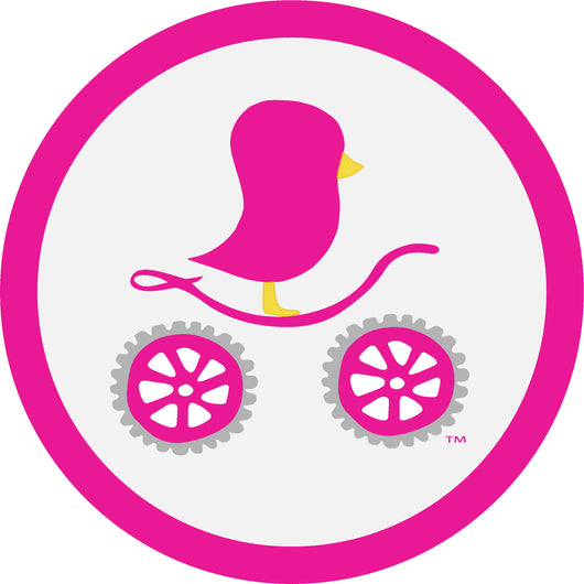 Cycling Chick 4.5cm Rubber Garment Tag