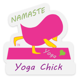 Yoga Chick Sticker
