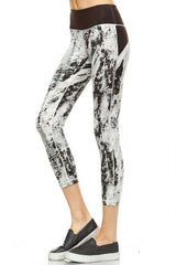 Splatter Print Capri Leggings