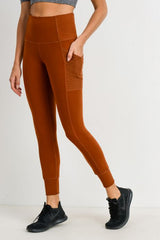 Ribbed & Cuffed Side Pocket Jogger Leggings