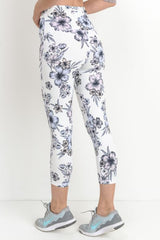 Yoga Chick High Waist Hibiscus Capri Legging