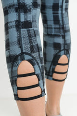 Dotted Plaid Capri Leggings