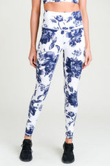 Ultramarine Floral Highwaist Full Leggings