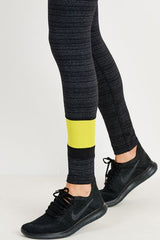 Dark Striped Neon Ascent Leggings