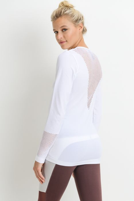 Yoga Chick Lattice Back Stretch Top