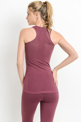 Fishnet Mesh Back Seamless Tank