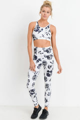 Highwaist Midnight Rose Full Leggings