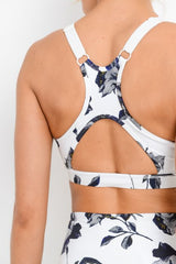 Midnight Rose Adjustable Sports Bra