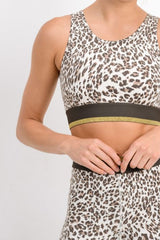 Snow Leopard Sports Bra
