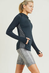 Lightweight Active Chick Hoodie with Stripes