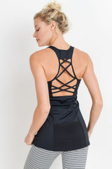 Performance Lattice Mesh Pocket Tank Top