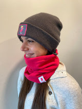 Skier Chick Heather Grey Beanie