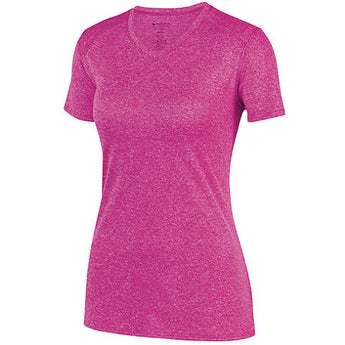 Cycling Chicks Heather Pink Wicking Tee