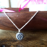 Mini Cycling Wheel Necklace Sterling Silver