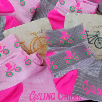 Cycling Chicks Shortie Socks Combo - 2 for $20