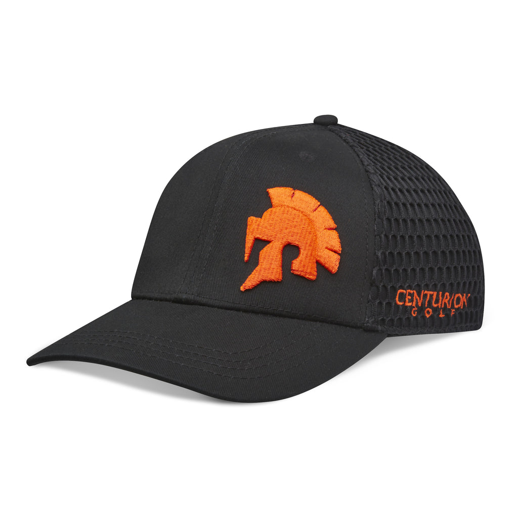 Centurion Flex-Fit Hat- Orange on Black
