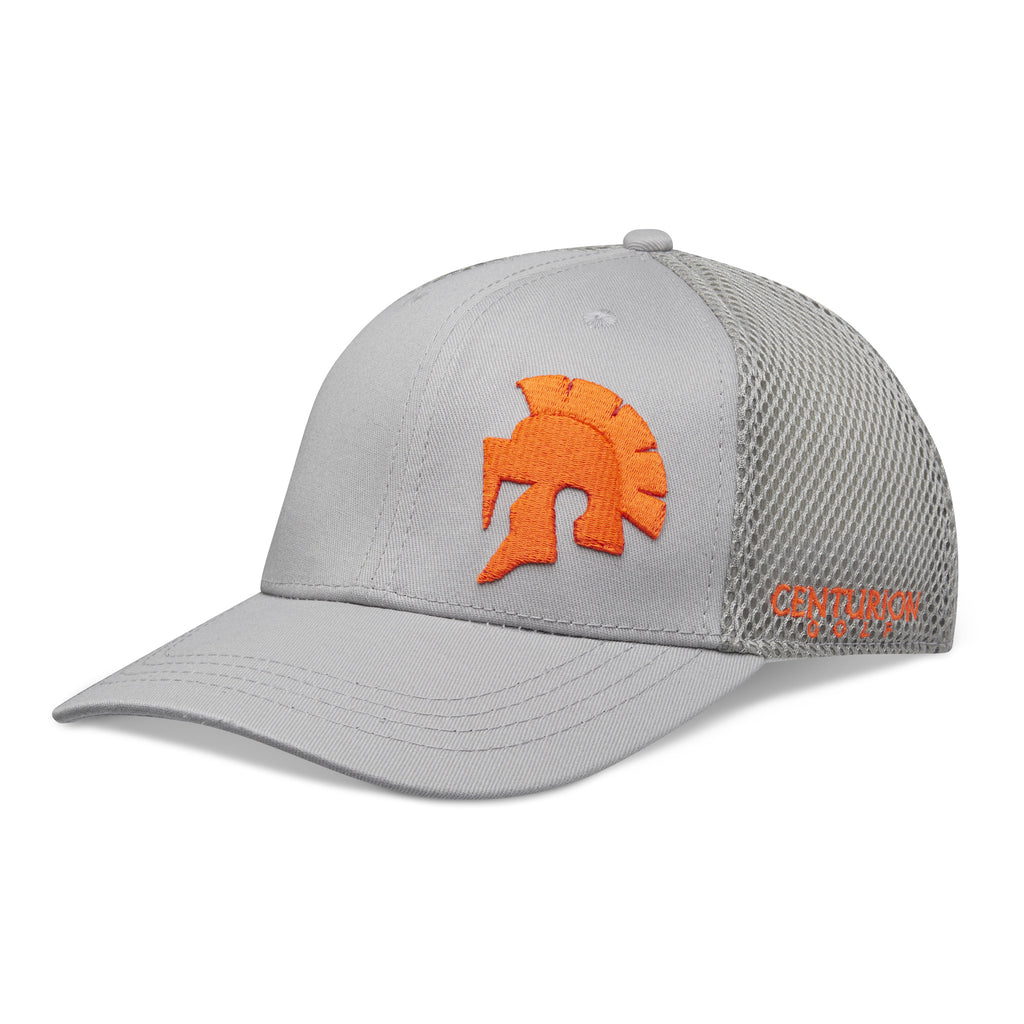 Centurion Flex-Fit Hat- Orange on Grey