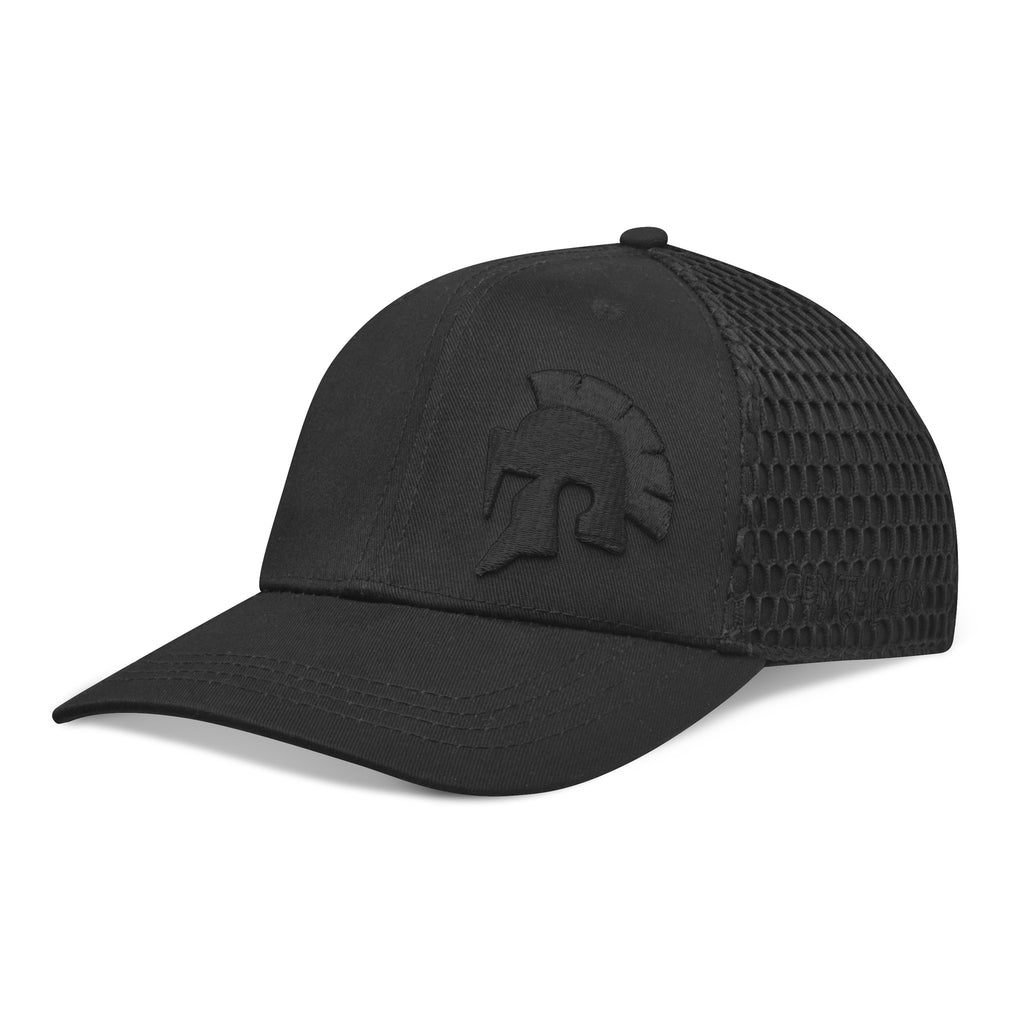 Centurion Flex-Fit Hat- Black on Black