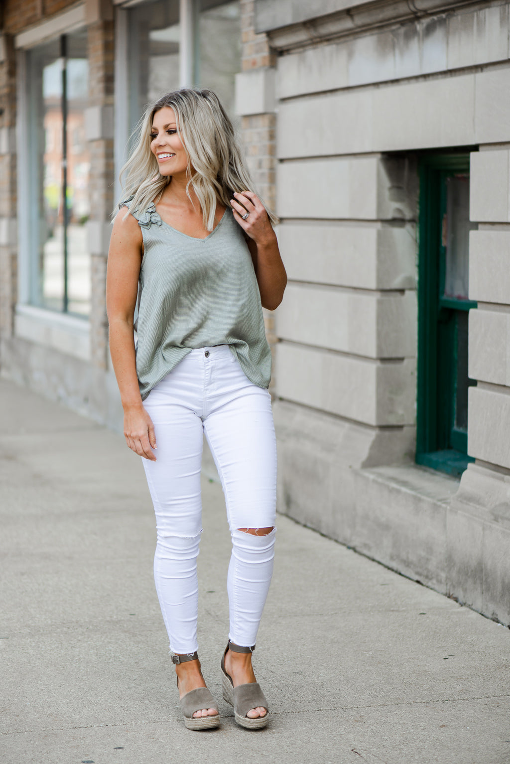 Eliza Ruffle Top {2 Color Options}