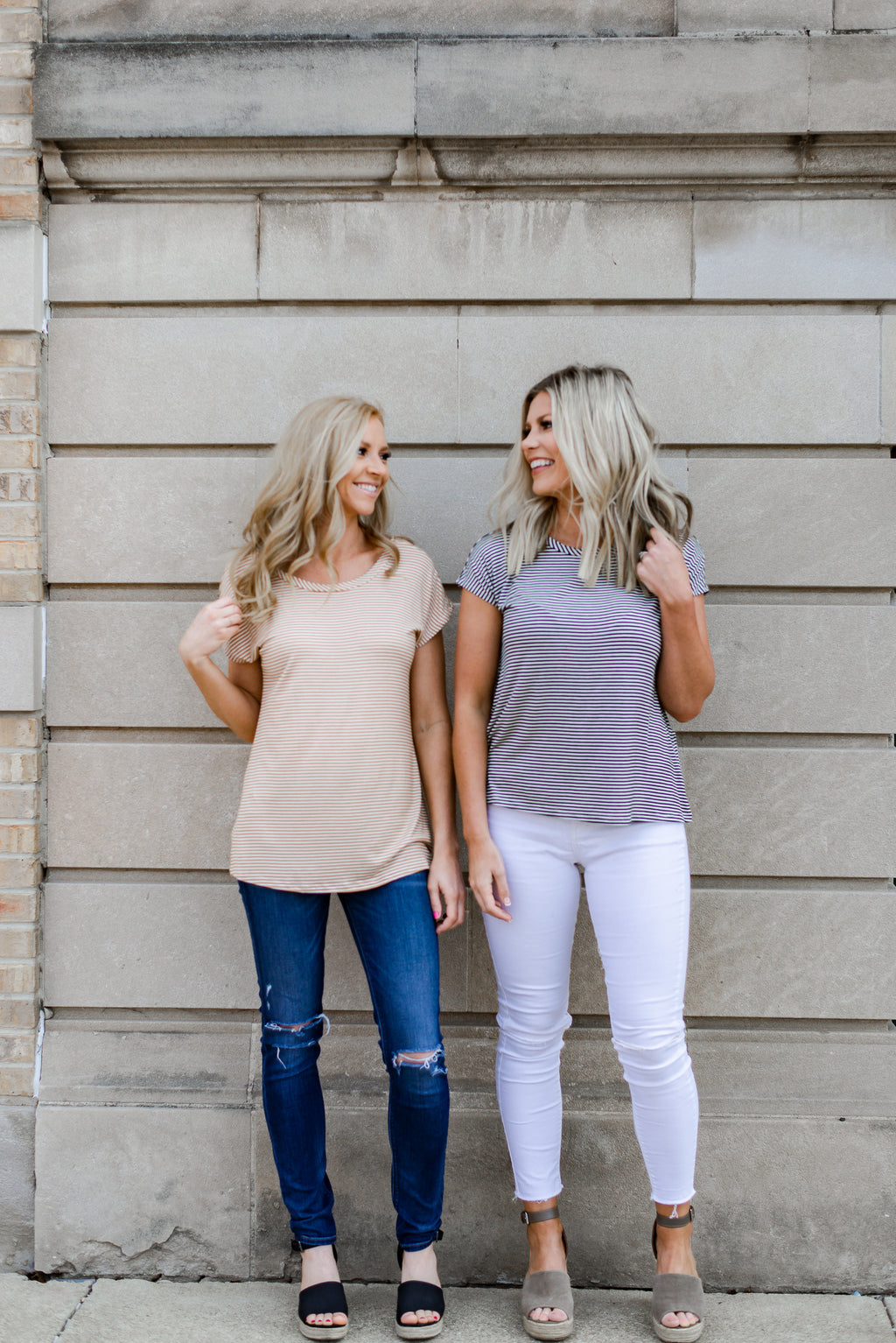 Holly Striped Top {2 Color Options}