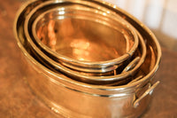Brass Oval Planters