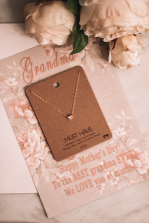 Necklace & Card Gift Set