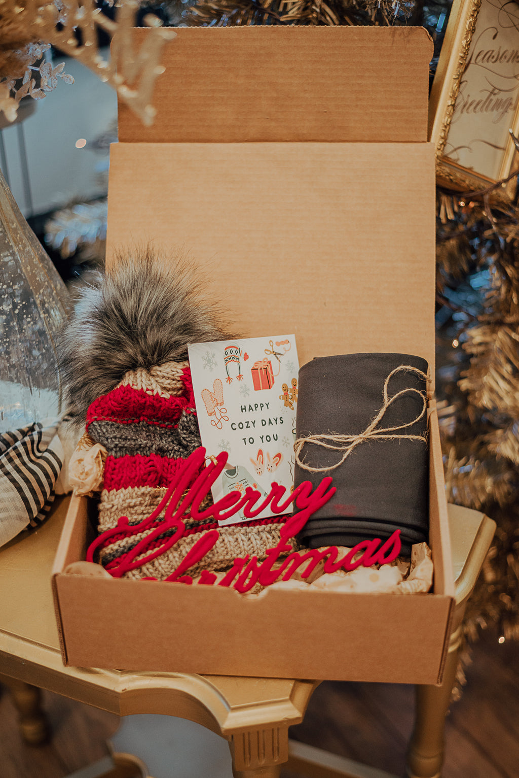 A Cozy Christmas Gift Box