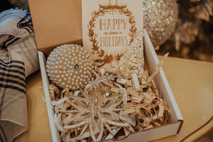 A Glitzy Holiday Gift Box