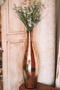 Gold Mercury Vase & Greenery