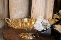 Brass Bowl with Rose Bundle
