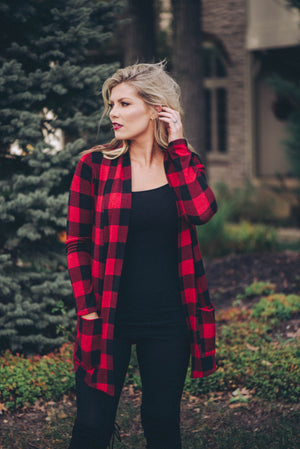 Julia Buffalo Plaid Cardigan