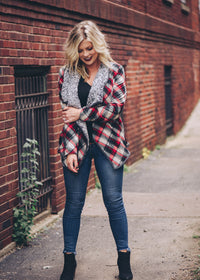 Faye Plaid Cardigan