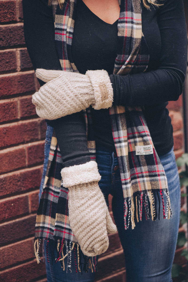 Knit Sherpa Gloves {4 Colors}
