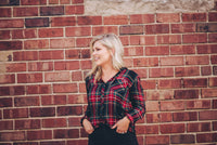 Nell Plaid Button-Up