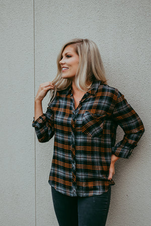 Emery Plaid Top