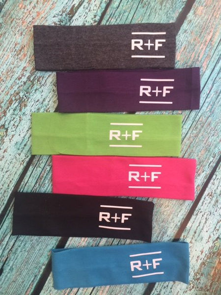 Set of 12 Rodan and Fields Cotton Headbands RF R+F  Assorted Colors - Stretch Elastic Headband Rodan Fields inspired Teens Women Girls