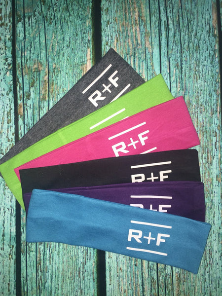 Rodan and Fields set of 50 RF R+F Cotton Headbands Assorted Colors - Stretch Elastic Yoga Fashion Headband Teens Women Girls Head Band Ha