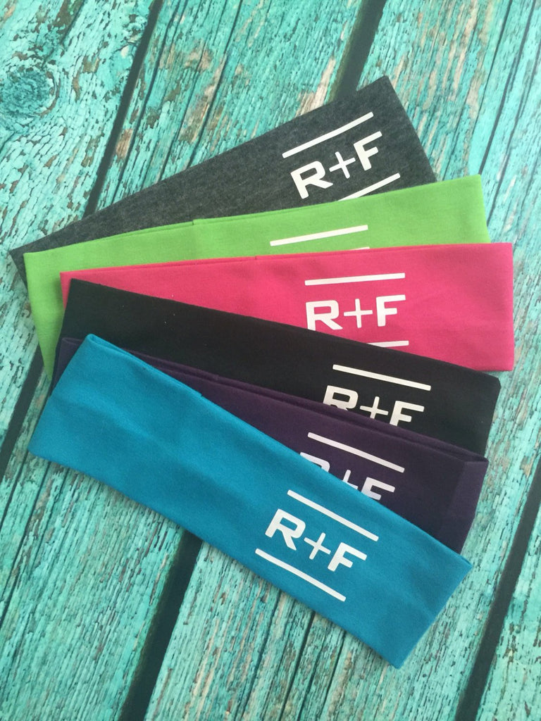 Rodan and Fields Cotton Headbands set of 12 RF R+F  Assorted Colors - Stretch Elastic Headband Rodan Fields inspired Teens Women Girls