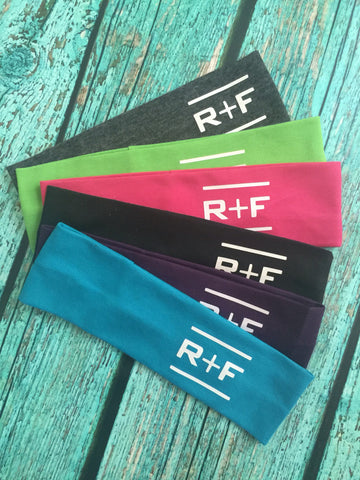 12 Rodan and Fields Cotton Headbands RF R+F  Assorted Colors - Stretch Elastic Headband Rodan Fields inspired Teens Women Girls