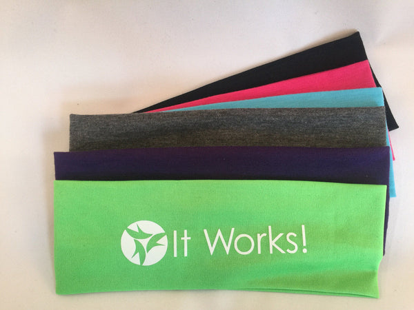 It works  Cotton Headbands set of 12, Assorted Colors - Stretch Elastic Headbands  Teens Women Girls, Itworks Workout